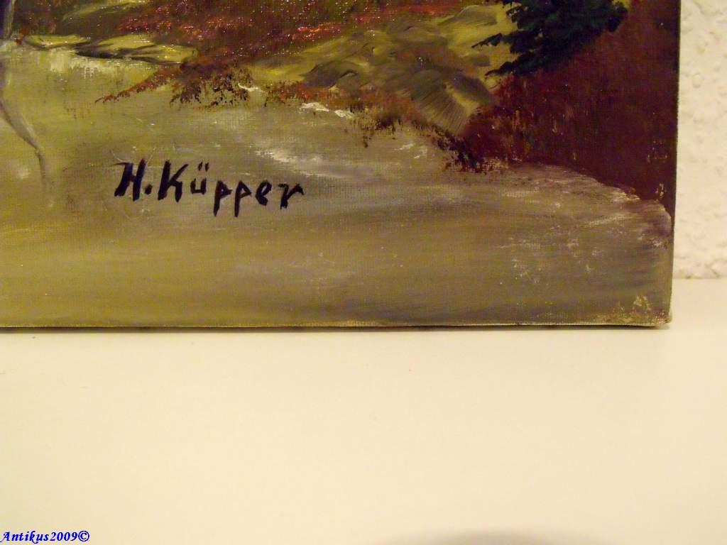 H. KÜPPER, SOMMERLICHE FLUßLANDSCHAFT | eBay